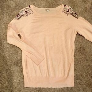 Merona Target  pink jewel rhinestone sweater L